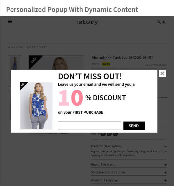 Amanda Personalized popup